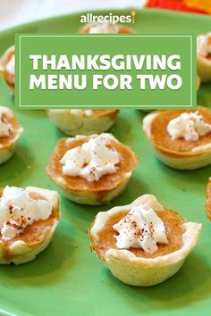 """A Thanksgiving Menu for Two 