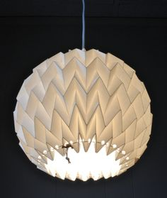 "Origami Paper Lamp Shade / Lantern ""Bubble"" - WHITE"