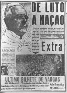 Brazil. President Getúlio Vargas' suicide reported by daily Última Hora, in 1954.