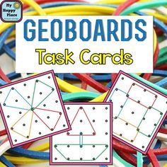 30 Geoboards Task Cards with recording sheets, $: