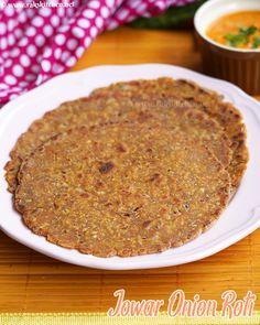 Jowar onion roti, Sorghum flour roti - Raks Kitchen