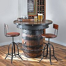 Tennessee Whiskey Barrel Pub Table