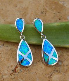 Fire Opal Earrings set in Sterling Silver by AleaMariCo $37