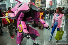 Our D.va and Meka cosplay at NYCC