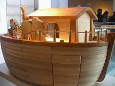 Noah's Ark Toy  Skirball Cultural Center Los Angeles by Al_HikesAZ, via Flickr