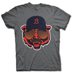 CHICAGO BEARS SUPER FAN TEE SHIRT -- Sideline Bear Gets Da Coach Ditka Treatment