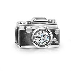 Vintage Camera Charm 925 Sterling Silver