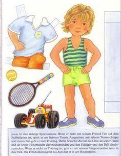 Bonecas de Papel: Anna e Tim (PLUS CLOTHING)