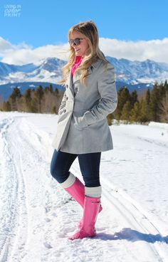 Pink in the Snow
