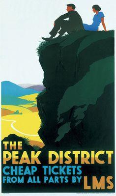 'The Peak District', LMS poster, c 1935.