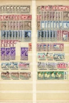 Lot of Unresearched stamps - Malaya