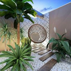 24 beautiful side yard and backyard gravel garden design ideas 10