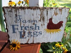 Chicken Wood Signs | ... Wooden Sign Chicken Coop Rooster Farmhouse Hen House Barn FTTeam