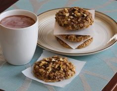 Healthy Banana Oatmeal Breakfast Cookies made with BiPro whey protein powder, banana, and oats. They're SO easy to make and have 10 grams of protein per a cookie!