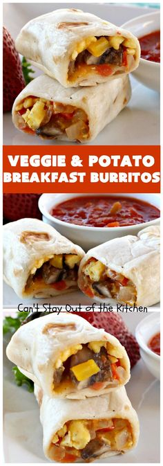 Veggie and Potato Breakfast Burritos – Can't Stay Out of the Kitchen - Hope Yesipov Devilled Eggs Recipe Best, Best Deviled Eggs, Deviled Eggs Recipe, Breakfast Potatoes, Breakfast Burritos, Breakfast Dishes, Vegetarian Burrito, Vegetarian Breakfast, Southern Baked Beans