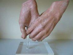 Open Hand Sculpture   Sculpture: ' Hands 2 (Washing Hands Terracotta, Realistic Lifesize ...