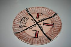 Author's Purpose - hint:  use the thin paper plates without a waxy covering.