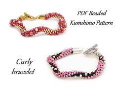 PDF Beaded Kumihimo Pattern Curly Kumihimo bracelet bead