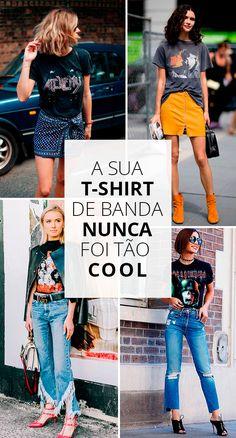 Quer inovar no truque de styling com a t-shirt de banda velha? Olha só!