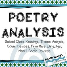 Help students dive deep into poetry analysis with this extremely detailed and accessible unit. 5 poems - 20 analysis tasks (Grades 6-8)