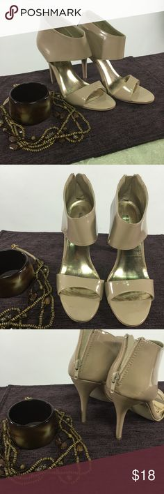 Tan Madden Girl Heels The heel height 4 1/2 inches. These were used for Photo Shoots. There is no hard wear on the shoes. I take very good care of them. 😊💞 BUNDLE 3 OR MORE ITEMS TO SAVE 20% 💞 Any questions let me know. Madden Girl Shoes Heels