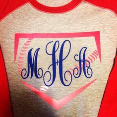 Monogram Baseball Tee by SouthernSpiritShop on Etsy Softball Shirts, Softball Mom, Sports Shirts, Softball Stuff, Baseball Stuff, Team Shirts, Baseball Gear, Baseball Boys, Baseball Season