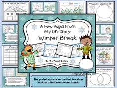 Why not make your planning for the first few days after winter break a breeze? The first days back can be rough on kids, and getting back into a routine is not easy…especially when all the students want to do is talk about their break! Why not give them an opportunity to do just that while using reading skills, writing, and art? This activity is a great way to ease back into school after a long vacation. ($)