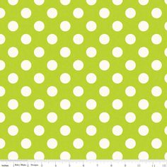 Cotton Fabric, Lime Green Polka Dot, Riley Blake Designs, La Crème