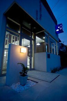 理容店(店舗付き住宅)。店舗デザイン;名古屋 スーパーボギー http://www.bogey.co.jp