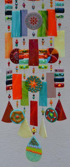 Orden especial para Donna windchime Kirks vidrio por kirksglassart