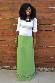 Style Pantry | Basic White RL Top + WeWe Clothing Maxi Skirt