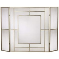 "Chadwicke Gold 35"" High 3-Panel Fireplace Screen - #2R784 | LampsPlus.com"
