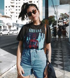 Ideas Fashion Teenage Outfits Style For 2019 Grunge Fashion, Trendy Fashion, Girl Fashion, Fashion Outfits, Fashion Trends, Fashion Styles, Style Fashion, Short Jeans Cos Alto, Looks Lollapalooza