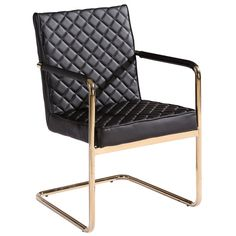 Could recover this chair...the lines and frame are great. Harlow Chair - Black and Gold