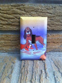 Tod and Copper Friends Forever Light Switch Cover Plate Fox and the Hound