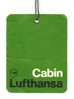 Branding: Green / Lufthansa Airlines Cabin Label via Wanken