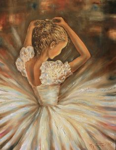 Ballerina- this would be so cute on a little girls wall with ballet slippers hanging on one side and dried flowers on the other
