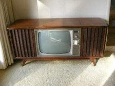 Vintage Blonde RCA Victor Console Tube TV Model 21-5-522N/ Working ...