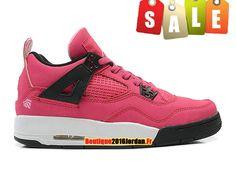 new style 48102 aba26 Air Jordan 4 Retro - Basket Jordan Pas Cher Chaussures Pour Femme Fille  Rose…