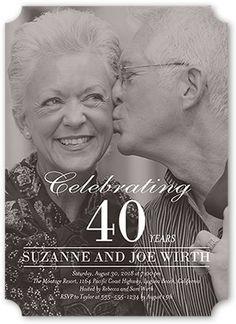 Wedding Anniversary Invitations: Capture The Moment, Ticket Corners, White