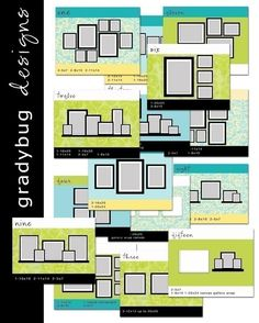 WALL DISPLAY Templates  SET 1  for by gradybugdesigns on Etsy, $45.00