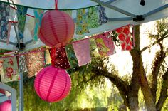 Paper Lanterns, Easy Bunting, and a  List for craft shows