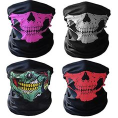 GAMPRO 4 Pcs Breathable Seamless Tube Skull Face Mask, Dust-proof Windproof Motorcycle Bicycle Bike Face Mask for Cycling, Hiking, Camping, Climbing, Fishing, Hunting, Motorcycling (1 Bundle) #GAMPRO #Breathable #Seamless #Tube #Skull #Face #Mask, #Dust #proof #Windproof #Motorcycle #Bicycle #Bike #Mask #Cycling, #Hiking, #Camping, #Climbing, #Fishing, #Hunting, #Motorcycling #Bundle)