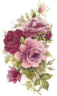 XL SHaBbY PinK TeA RoSeS WaTerSLiDe DeCALs ~FurNiTuRe Size~ in Crafts, Art Supplies, Decorative & Tole Painting | eBay