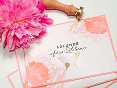 """handgestempelte florale Einladung zum Geburtstag für Freunde fürs Leben, Stampin´UP Stempelset """"""""Auf den ersten Blick"""", Sandra Kolb.www.samey.de"""