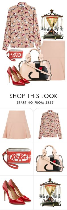 """""""Untitled #1424"""" by sunnydays4everkh ❤ liked on Polyvore featuring Miu Miu, MSGM, Anya Hindmarch, N°21 and Salvatore Ferragamo"""