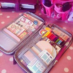 something like this with paint chip cards, magazine pics, colours etc for when out choosing things for new house...