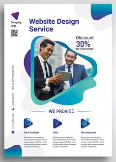 Graphic Design Web Design Agentur Promo Flyer Vorlage PSD Nearly as good as the real thing Article B Web Design Trends, Web Design Quotes, Web Design Agency, Web Design Tips, Web Design Services, Web Design Tutorials, Design Blog, Layout Design, Website Design Layout