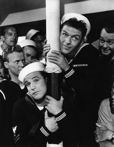 Frank Sinatra and Gene Kelly in 'Anchors Aweigh'.  I LOVE OLD MOVIES!