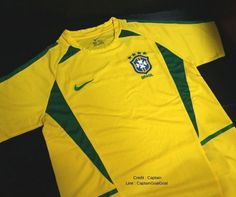 Brazil Home World Cup Champion 2002 Authentic Jersey Football Sport FIFA #Nike #Brazil